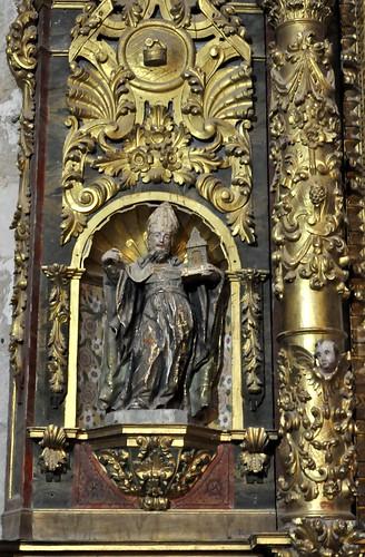 Arenillas de Riopisuerga (Burgos). Iglesia de Santa María. Retablo de la Milagrosa. San Agustín