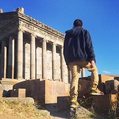 Stepping on a million year old ruins. #newbalance #Garni #armenia #travel