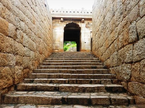 Stairs at Chitradurga fort | Anita