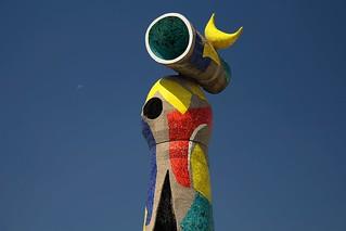 Parc de Joan Miró görüntü. barcelona españa spain day clear catalunya día cataluña montjuïc soleado despejado