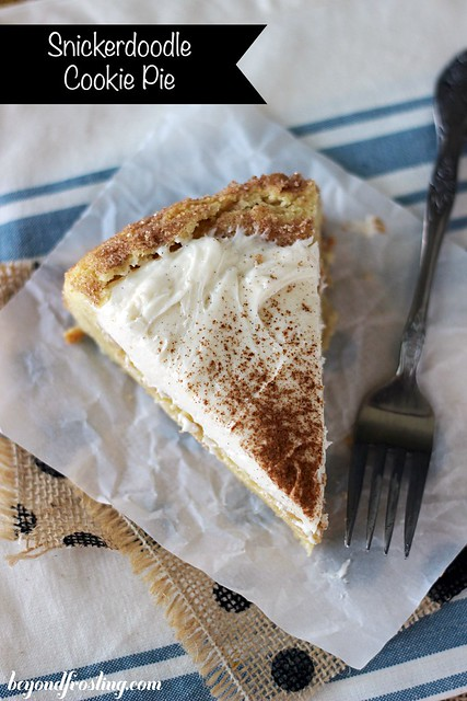 Snickerdoodle Cookie Pie