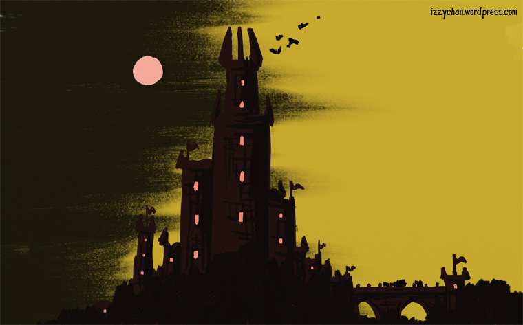 yellow red castle fantasy artrage