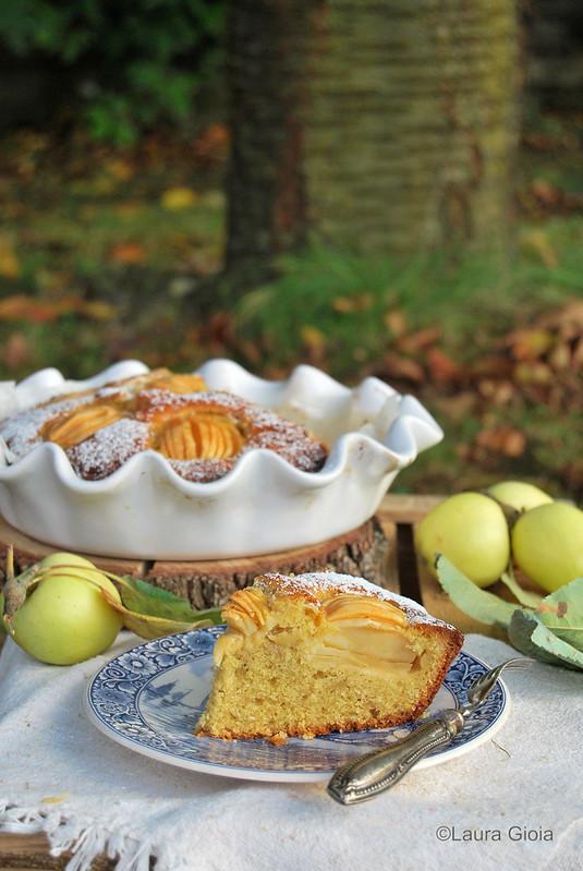 torta di mela limoncella con farina di farro, yogurt e zucchero di canna