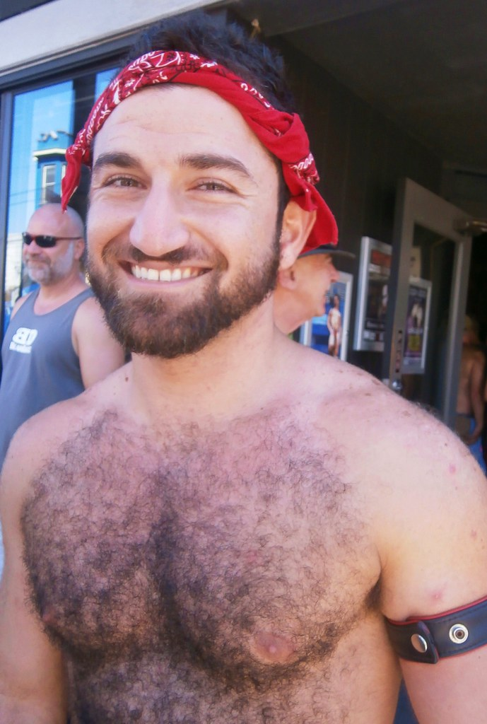 SEXY HAIRY BEAR! 2014 CASTRO STREET FAIR  ! (safe photo)
