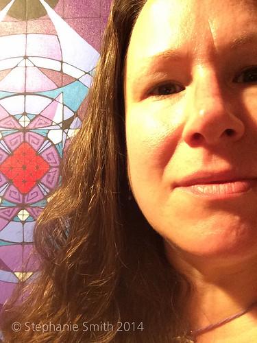 Selfie with WIP painting
