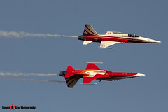 J-3087 & J-3088 - Patrouille Swiss - Northrop F-5E Tiger II - Fairford RIAT 2006 - Steven Gray - CRW_2051
