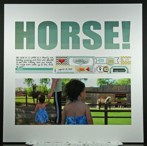 Horse! Scrapbook Layout | shirley shirley bo birley Blog