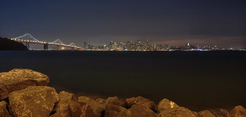 sanfrancisco california bridge night bay rocks downtown raw cityscape treasureisland clear hdr darkblue photomatix fav100 1xp nex6 selp1650