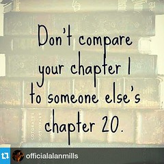 Amen  #Repost from @officialalanmills with @repostapp   —  Don't beat yourself up over your perceptions of others. You probably don't know where they started or the pot holes they hit along the way. Stay positive and true to yourself. You are your only tr