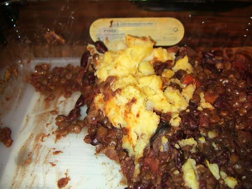 Lentil and Bean Cottage Pie