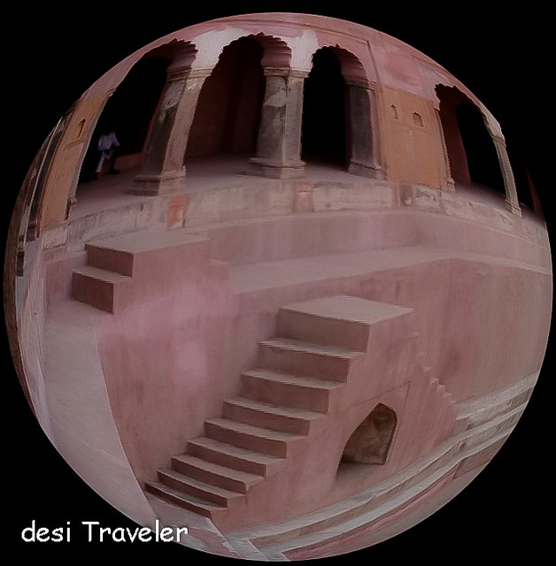 Farrukhnagar step well Fisheye