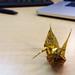 Origami via un emballage de bonbon