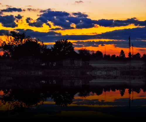 travel autumn sunset sky reflection art fall texture abandoned water colors architecture clouds buildings nikon october flickr serbia romance nikkor caffe artland twop srbija boje themagichour jesen lazarevac nubies artristic naturesoul