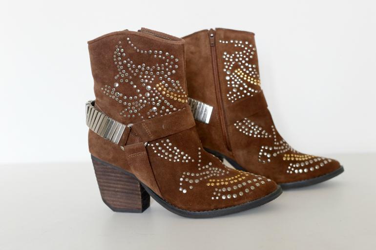jeffrey campbell bruine studded western laarzen