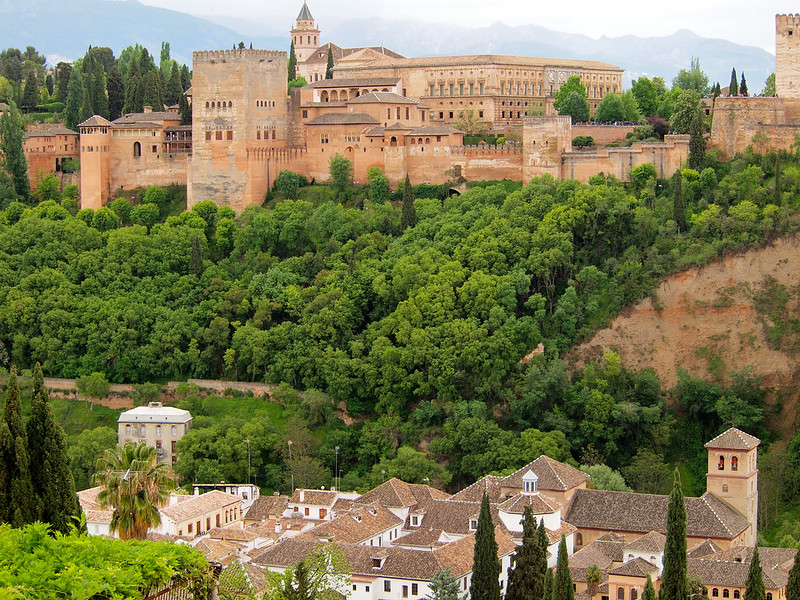 The Alhambra, as seen from the Albaicin
