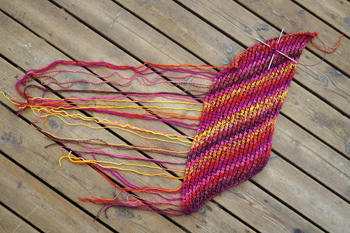 Marled mystery shawl 2017