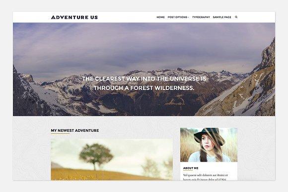 Adventure Us v1.0.0 - Travel Blog Theme