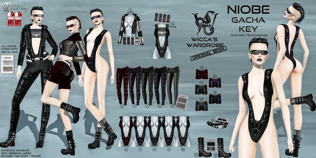 Wicca's Wardrobe - Niobe Gacha Key - SecondLifeHub.com