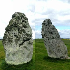 Ye olde grumpy rock, looks a bit more concerned from the other side. (Stonehenge heel stone) #salisbury
