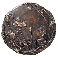 Rememberance medal by Susan Taylor reverse