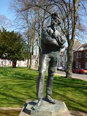 Jubilee Gardens, Rugby - statue of Rupert Brooke
