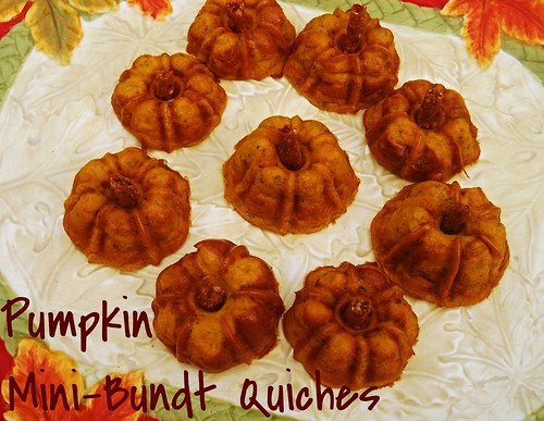 Pumpkin Mini-Bundt Quiches