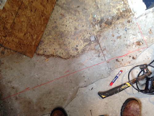 how to cut underlayment off subfloor close to wall