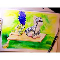 #umdoodlepordia 292 #artwork #doodle #drawing #sketch #watercolor