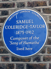 Photo of Samuel Coleridge-Taylor blue plaque