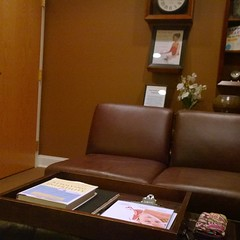 In one of the lounges signing all the things, writing all the checks. #ivf #ivfoct #infertility