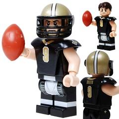 Drew Brees - Saints - Custom LEGO Minifigure