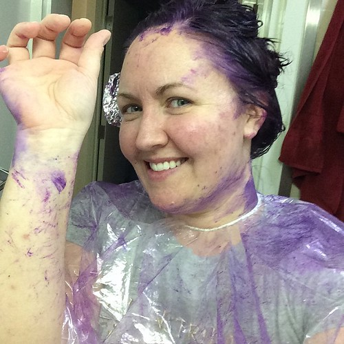 Next time, I'm asking a friend to help. Dyeing long hair without getting dye everywhere is hard!