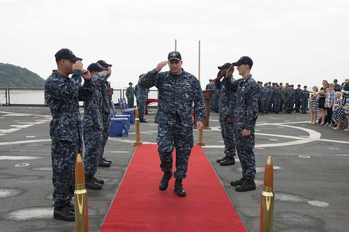 Germantown Holds Change of Command Ceremony in White Beach, Okinawa
