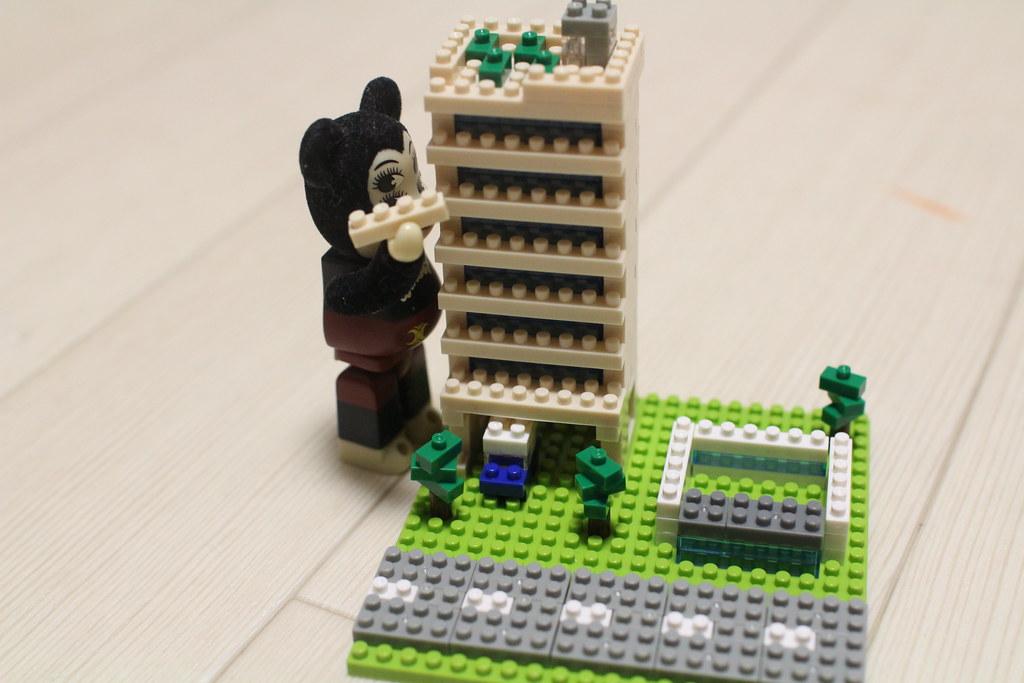 ナノブロック_情景ビルセット組み立て4