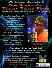 DCBS NYE Dinner Dance Party with Severn Records artist - Ursula Ricks
