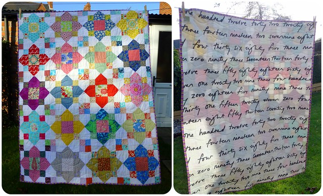 Bee Blessed Quatrefoil Quilt Nov14