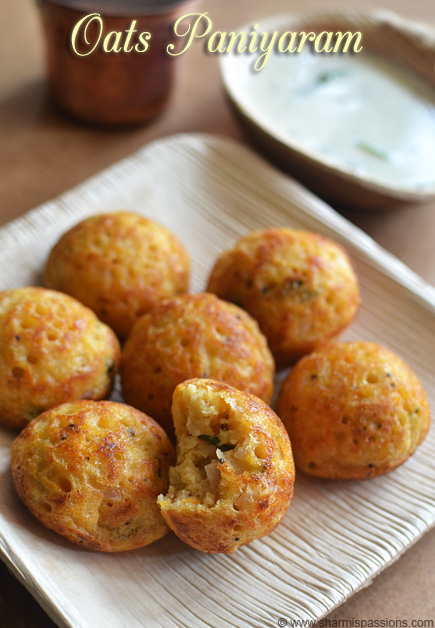 Oats Paniyaram Recipe