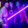 A galaxy far away & Guardians of the Galaxy. @@robominister @scifipartyline #starwars #gotg #Halloween #Georgetown #jedi #guardiansofthegalaxy #starlord