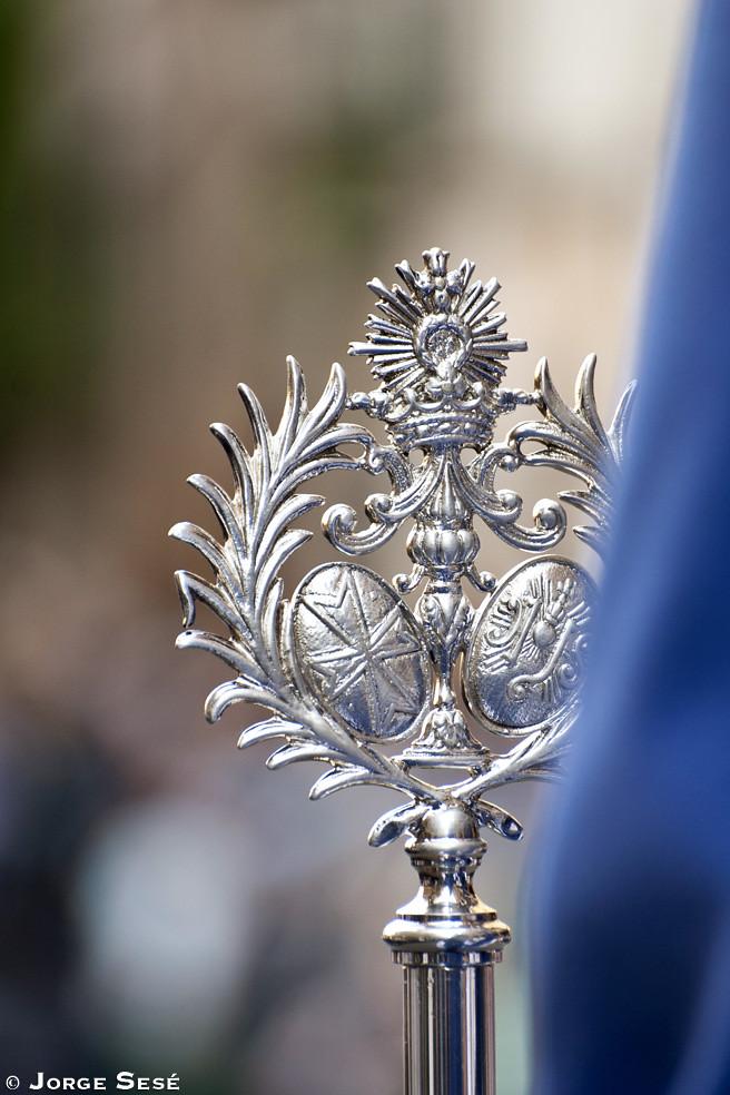 Cetro de la Cofradía de la Humildad de Zaragoza