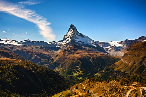 mountain switzerland zermatt matterhorn