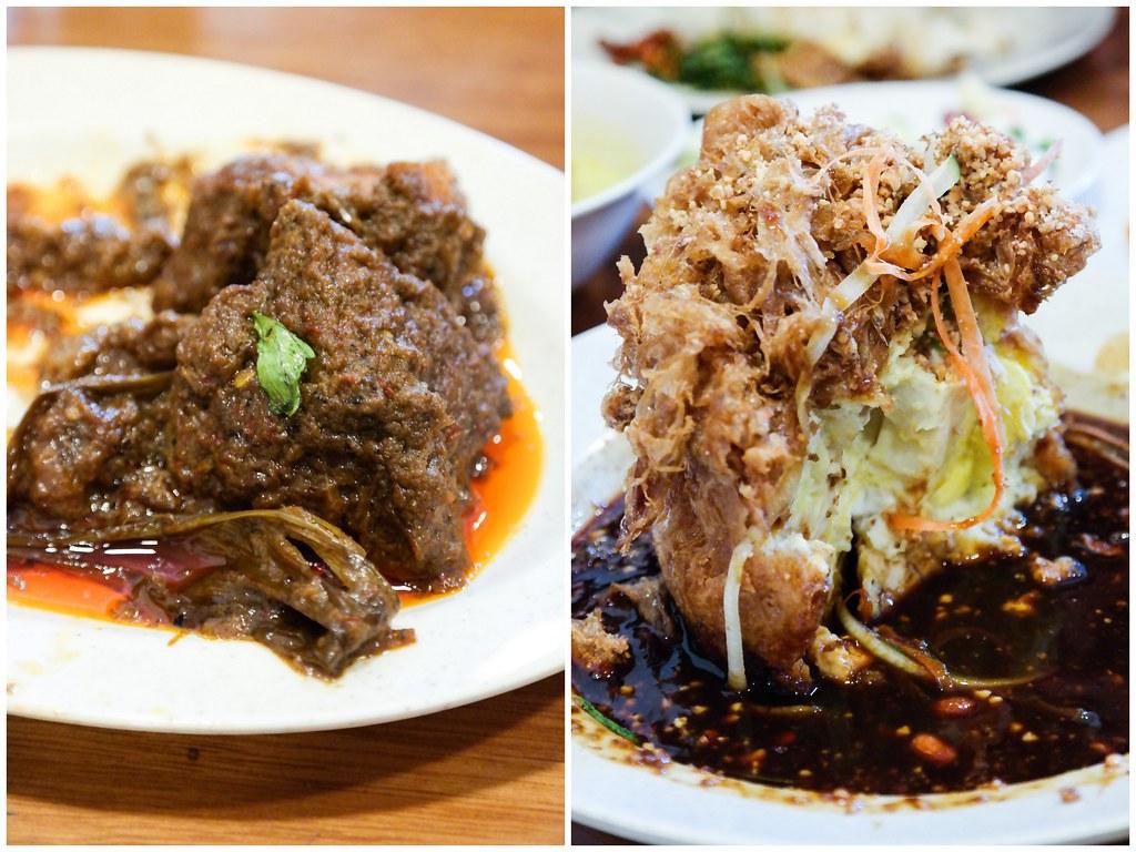 Hajah Maimunah Restaurant: Beef Rendang & tahu telur