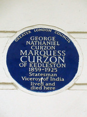 Photo of George Curzon blue plaque