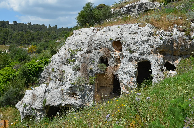 Rock cut tomb in the Pantalica Necropolis