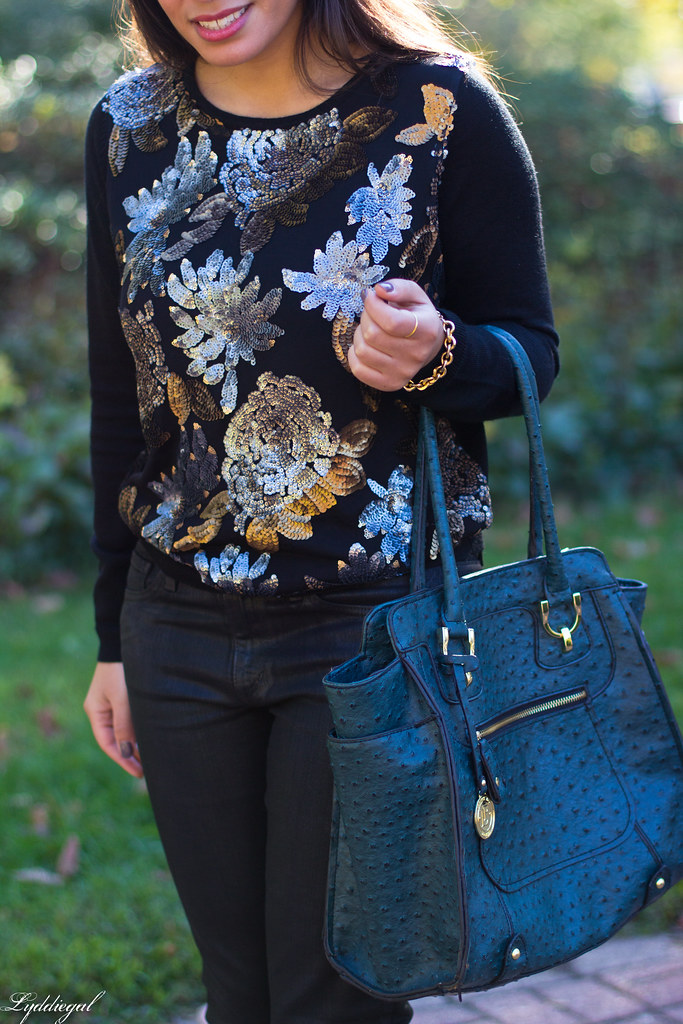 Sequined Floral Sweater, Black Coated Denim-7.jpg