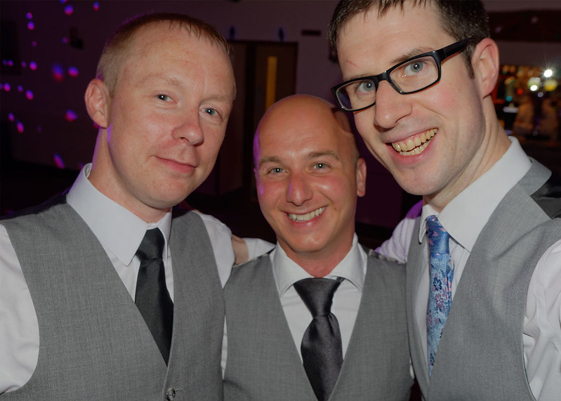 Best Man, Groom and me - all matching, unplanned