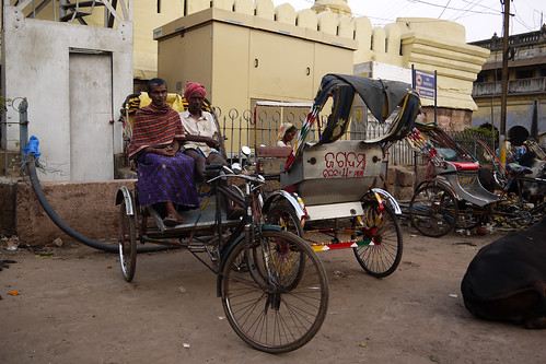 Rickshaw drivers on the streets of Puri, Orissa