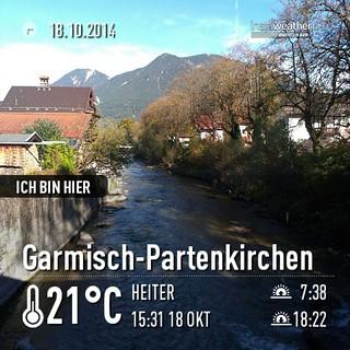 #geocaching in #gap bei allertollstem Sonnenschein! #Hayden #urlaub #instaweather #instaweatherpro #weather #wx #android  #garmisch-partenkirchen #deutschland #day #autumn #clear #evening #de