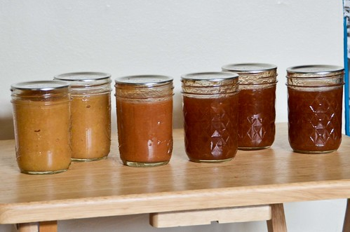 Applesauces and Cinnamon Pear Jam from the FoodLab Workshop