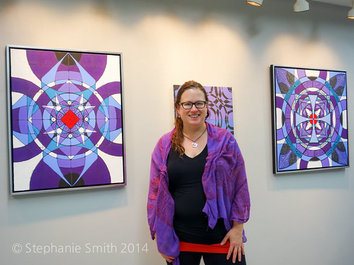 With my Featured Artist wall at The Banana Factory 10/2014