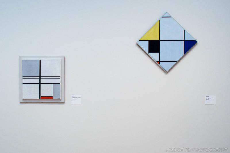 Piet Mondrian Modern Art Paintings in Art Institute of Chicago
